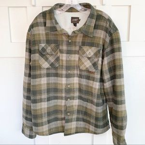 O'Neill Sherpa Lined Button Down Flannel Shirt